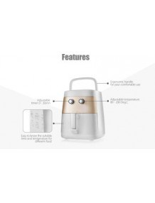 BMS Lifestyle LF-7615 2.5 Liters Up to 200 ° C 1400 Watt Oil Free Healthy Cooking Analog Control Air Fryer (2.5 L)