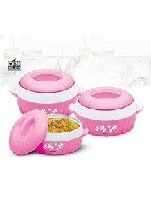 BMS Lifestyle Designer Food Safe Serving Casserole & Gift Set of 3 Pcs (Color May Vary)