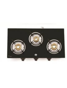 3 Burner Glass Top Manual Gas Stove - 8904243401834