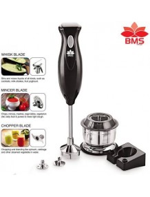 White an Purpel Plastic Hand Blender Without Jar - 8904243409199