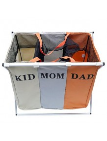 3 Secetion Laundry Basket Brown - 8904243417323
