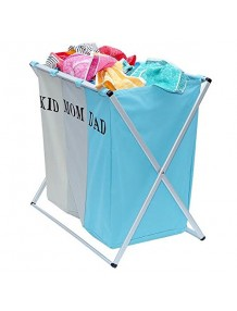 3 Secetion Laundry Basket Blue - 8904243417347