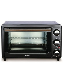 BMS Lifestyle (Howell) 24 Litre BMS FE2416V Multi Function Stainless Steel with Timer Toast, Bake, Broil Settings, Natural Convection 1380 Watts of Power, Includes Baking Pan Black(OTG)
