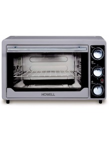 BMS Lifestyle (Howell) 24 Litre BMS FE2436V Multi Function Stainless Steel with Timer, Toast, Bake, Broil Settings, Natural Convection 1380 Watts of Power, Includes Baking Pan,White(OTG)