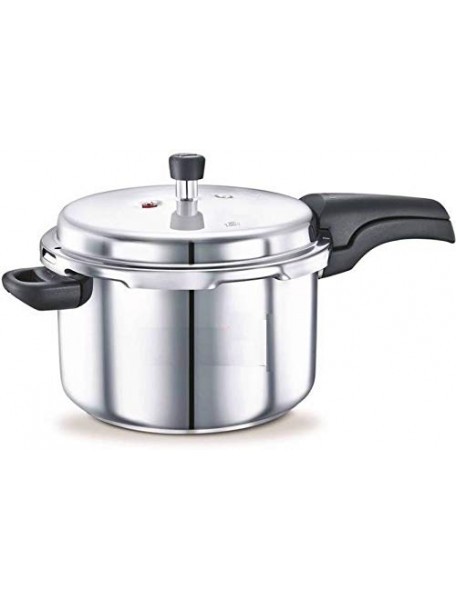 BMS Lifestyle Aluminium Pressure Cooker with Outer Lid, 5 litres (Silver)