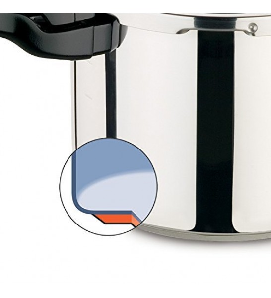BMS Lifestyle Aluminium Pressure Cooker with Outer Lid, 3 litres (Silver)