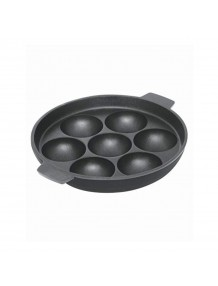 Non Stick Aluminium 7 Pot Appam with Lid Red - 8904243412632